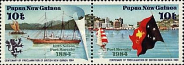 [The 100th Anniversary of Protectorate Proclamations for British New Guinea and German New Guinea, type QX]