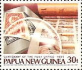 [The 100th Anniversary of the Papua New Guinea Post Office, type RQ]
