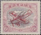 [Airmail - Numbers 58, 61 & 62 Overprinted in Red, type F3]
