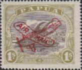 [Airmail - Numbers 58, 61 & 62 Overprinted in Red, type F5]