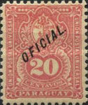 """[Postage Stamps of 1887 Overprinted """"OFICIAL"""", Typ J13]"""