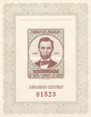 [Airmail - Abraham Lincoln Commemoration, 1809-1865, Typ ]