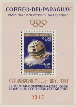[Airmail - Space Exploration and Olympic Games - Tokyo, Japan, Typ ]