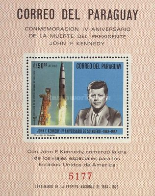 [Airmail - The 4th Anniversary of the Death of John F. Kennedy, 1917-1963, Typ ]