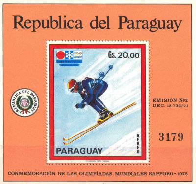 [Airmail - Winter Olympic Games - Sapporo, Japan (1972) - Japanese Paintings, Typ ]