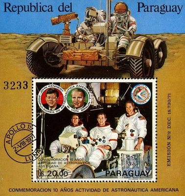 [Airmail - The 10th Anniversary of American Space Exploration, type ]