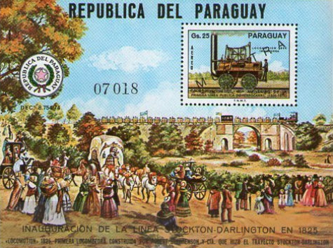 [Airmail - The 150th Anniversary of Opening of the First Public Railway Line, the Stockton-Darlington (England), Typ ]
