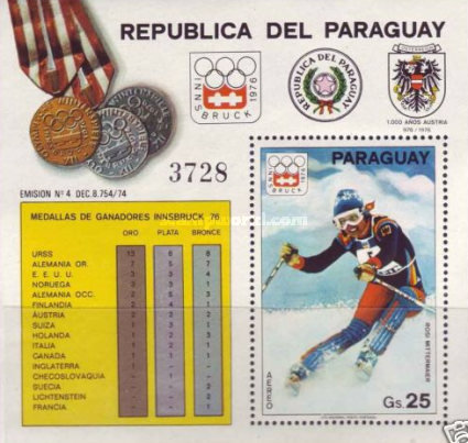 [Airmail - Medal Winners of the Winter Olympic Games - Innsbruck, Austria, Typ ]