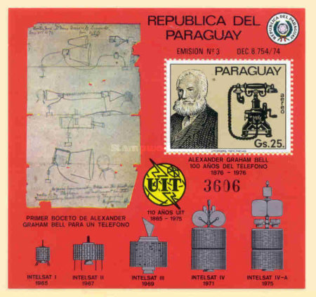 [Airmail - The 100th Anniversary of the Telephone, Typ ]