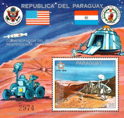 [Airmail - The 200th Anniversary of Independence of the United States of America - Scheduled Landing on Mars by Viking A, Typ ]