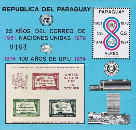 [Airmail - The 25th Anniversary of United Nations Stamps and the 100th Anniversary of U.P.U., Typ ]