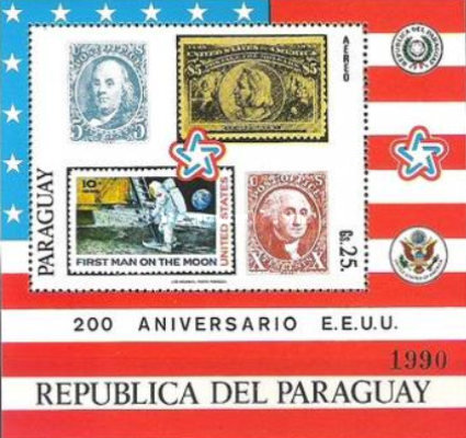 [Airmail - The 200th Anniversary of the Independence of the United States of America - Wild West Paintings, Typ ]