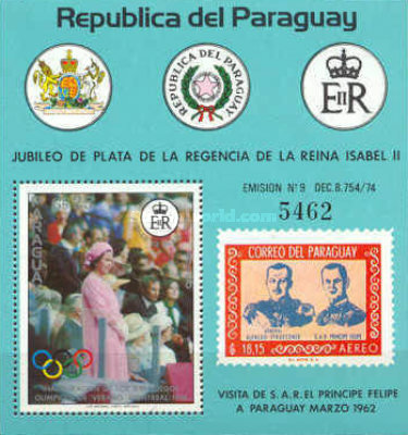 [Airmail - The 25th Anniversary of Regency of Queen Elizabeth II, Typ ]