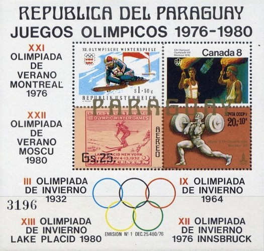 [Airmail - Olympic Games 1976-1980, Typ ]