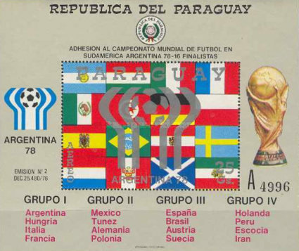 [Airmail - Football World Cup - Argentina, Typ ]
