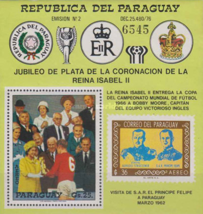 [Airmail - The 25th Anniversary of the Coronation of Queen Elizabeth II and Football World Cup - Argentina, Typ ]