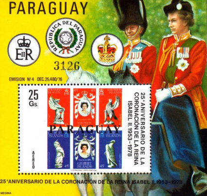 [Airmail - The 25th Anniversary of the Coronation of Queen Elizabeth II, Typ ]