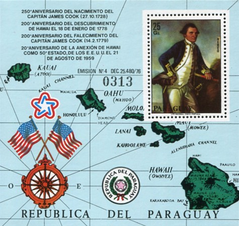 [Airmail - The 250th Anniversary of the Birth of James Cook, 1728-1779 and the 200th Anniversary of the Discovery of Hawaii, Typ ]