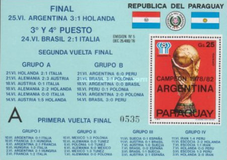[Airmail - Results of the Football World Cup - Argentina, Typ ]