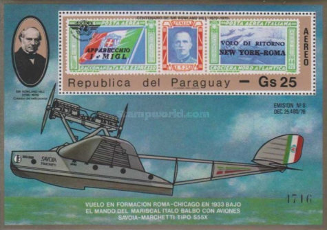 [Airmail - The 100th Anniversary of the Death of Sir Rowland, 1795-1879, and the 35th Anniversary of  International Civil Aviation Organization (ICAO), Typ ]