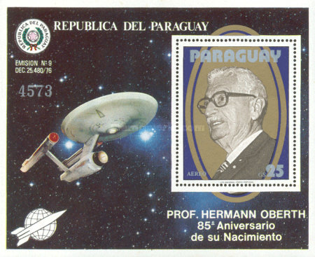 [Airmail - The 85th Anniversary of the Birth of Professor Hermann Oberth, 1894-1989, Typ ]