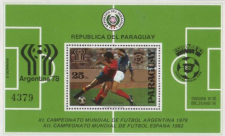 [Airmail - Football World Cup - Argentina (1978), and Football World Cup - Spain (1982), Typ ]