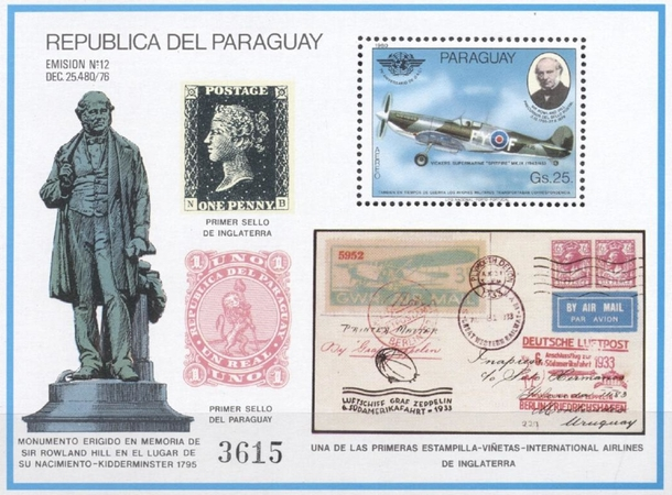 [Airmail - Military Aviation and the 100th Anniversary of the Death of Rowland Hill, 1795-1879, Typ ]