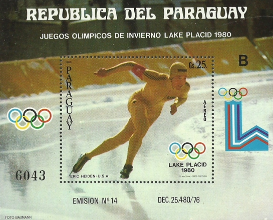 [Airmail - Medal Winners of Winter Olympic Games - Lake Placid, USA, type ]