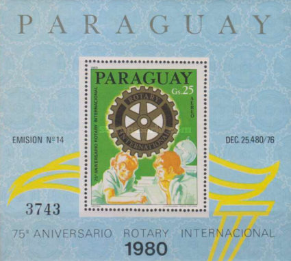 [Airmail - The 75th Anniversary of Rotary International, Typ ]