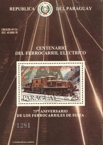 [Airmail - The 100th Anniversary of the Electric Locomotive, Typ ]