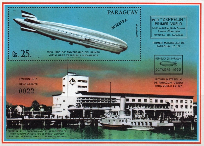 [Airmail - The 50th Anniversary of the First South American Crossing of the Airship