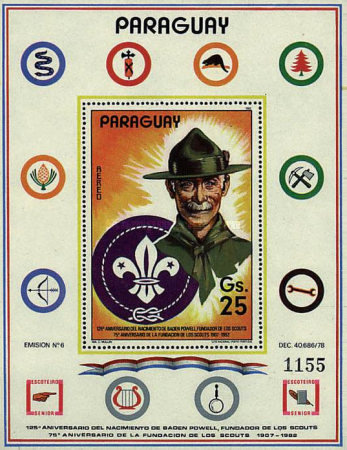 [Airmail - The 75th Anniversary of Boy Scouts Movement and the 125th Anniversary of the Birth of Lord Baden-Powell, 1857-1941, Typ ]