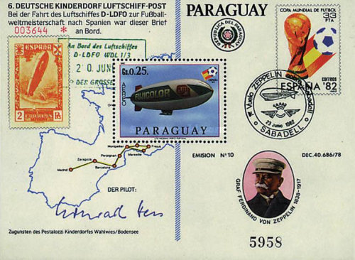 [Airmail - Football World Cup - Spain 1982 and Zeppelin, Typ ]