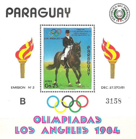 [Airmail - Olympic Games - Los Angeles, USA 1984, type ]