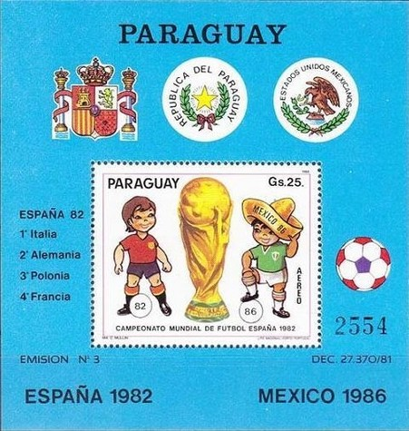 [Airmail - Football World Cup - Spain (1982) and Football World Cup - Mexico (1986), Typ ]