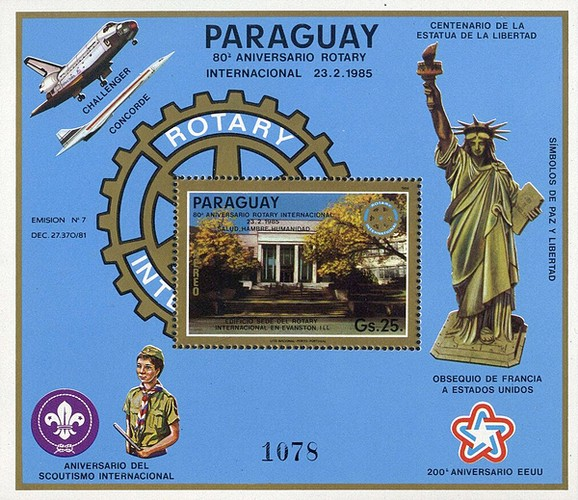 [Airmail - The 80th Anniversary of Rotary International, Typ ]