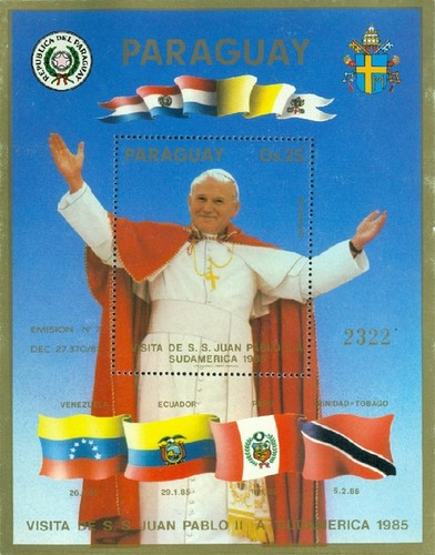 [Airmail - Visit of Pope John Paul II in South America, Typ ]
