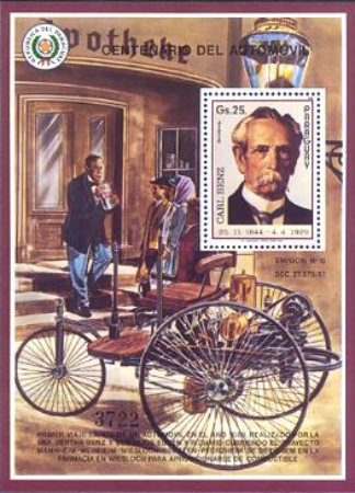 [Airmail - The 100th Anniversary of Automobiles, Typ ]