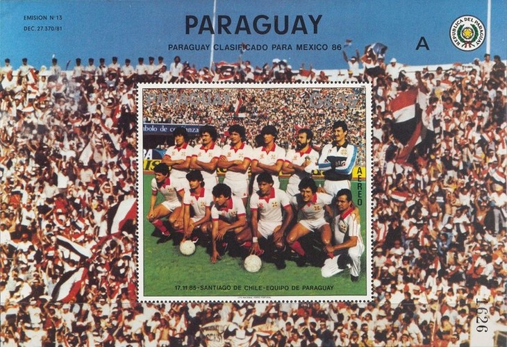 [Airmail - Qualification for Football World Cup - Mexico 1986, Typ ]