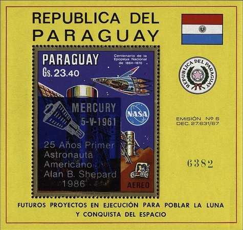 [Airmail - The 25th Anniversary of American-Manned Space Travel, Typ ]