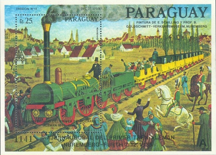 [Airmail - The 150th Anniversary of German Railways, Typ ]