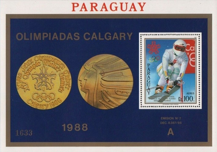 [Airmail - Gold Medal Winners of Winter Olympic Games in Calgary, Canada, Typ ]