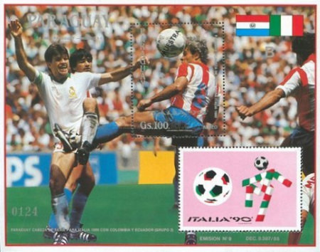 [Airmail - Football World Cup - Italy 1990, Typ ]