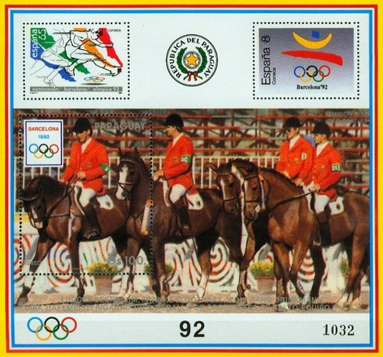 [Airmail - Olympic Games - Barcelona, Spain 1992 & Athens, Greece 1896, type ]