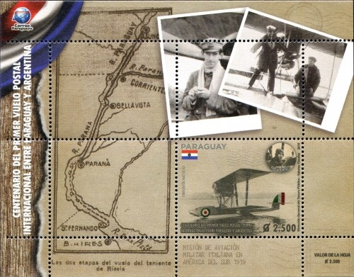 [The 100th Anniversary of the First Postal Flight between Paraguay and Argentina, Typ ]