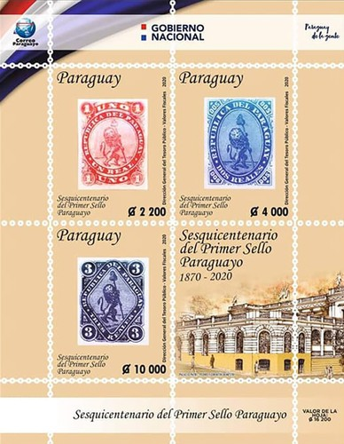 [The 150th Anniversary of Paraguayan Postage Stamps, type ]