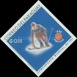 [Airmail - World Ski Championships - Portillo, Chile and Winter Olympic Games - Grenoble, France 1968, Typ ABF2]