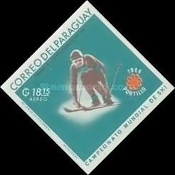 [Airmail - World Ski Championships - Portillo, Chile and Winter Olympic Games - Grenoble, France 1968, Typ ABF3]
