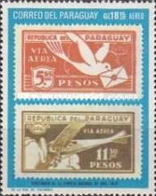 [Airmail - The 100th Anniversary of the First Postage Stamps of Paraguay (1970), Typ AFJ]