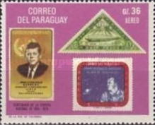 [Airmail - The 100th Anniversary of the First Postage Stamps of Paraguay (1970), Typ AFK]
